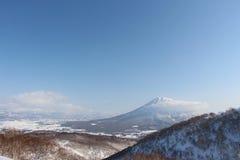 Mt Yoita niseko japan clear day. Stunning veiw stock photo