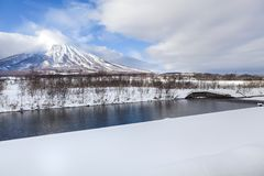 Mt.Yotei Imagenes de archivo