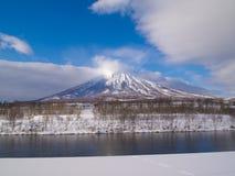 Mt.Yotei, Weinig Mt.Fuji van Hokkaido Stock Foto's