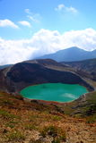 Mt. Zao and crater lake Royalty Free Stock Photo