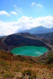 Mt. Zao e lago del cratere Fotografia Stock Libera da Diritti