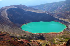 Mt. Zao en kratermeer Stock Afbeeldingen