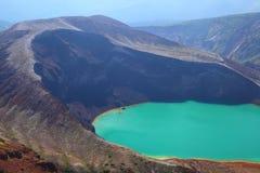 Mt. Zao och kraterlake Arkivfoto