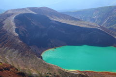 Mt. Zao y lago del cráter Foto de archivo