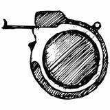 Mäta bandet, måttstock Arkivbild