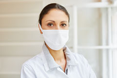 MTA with surgical mask. As medical hygiene Royalty Free Stock Photography