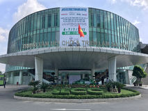 MTA Vietnam 2017. HO CHI MINH CITY - JULY 4, 2017: The 15th international precision engineering, machine tools and metalworking exhibition and conference MTA Royalty Free Stock Photography