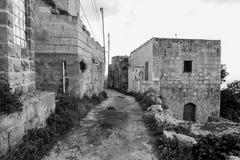 Mtahleb离开的村庄在马耳他 免版税图库摄影