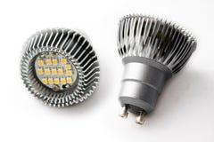Métal d'ampoules de DEL Image stock