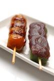 MTARASHI DANGO-dumpling Stock Photo