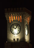 Mtarfa Clocktower. The Mtarfa Clocktower in Malta here shot during the night Stock Image