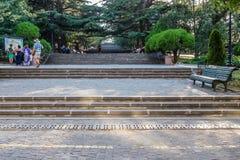 Mtatsminda parkerar Tbilisi Georgia Royaltyfria Bilder