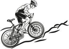 MTB骑自行车的人 库存图片