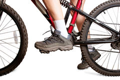 On mtb bike Stock Image