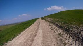 Mtb on board. Camera crete senesi stock footage