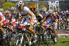 MTB Bundesliga racing 2011, Muensingen, Germany Royalty Free Stock Image