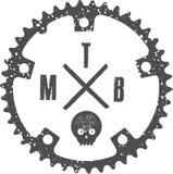 MTB czaszka ilustracja wektor