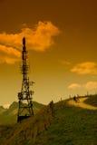 MTB in den Alpen Stockfoto