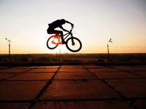 MTB. Jump on the bike MTB Stock Image