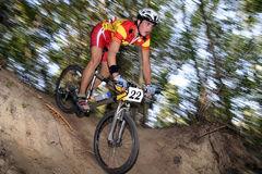 Mtb racer. Photo of a mtb racer Stock Images