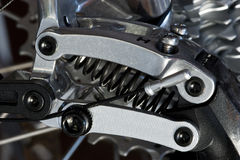 MTB rear derailleur detail Royalty Free Stock Photography