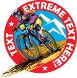 MTB rider. Mountain bike downhill rider logo design Royalty Free Stock Image