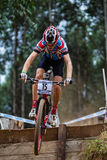 MTB Rider Race Flight Step  Stock Photo