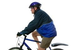 MTB rider side view stock image