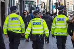 Mteropolitan funkcjonariuszi policji w Londyn zdjęcia royalty free