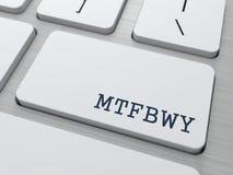 MTFBWY. Conceito do Internet. Imagem de Stock