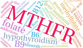 MTHFR Word Cloud Stock Photo