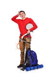 Mtired an hiker Royalty Free Stock Photo