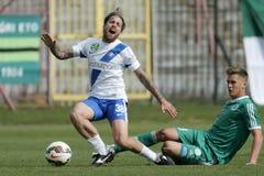 MTK对 杰尔OTP银行同盟足球比赛 库存图片