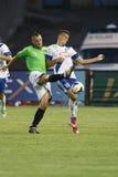 MTK对Haladas OTP银行同盟足球比赛 图库摄影