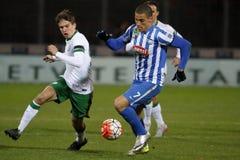 MTK布达佩斯- Ferencvaros OTP银行同盟足球比赛 免版税库存照片