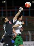 MTK布达佩斯- Ferencvaros OTP银行同盟足球比赛 免版税图库摄影