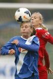 MTK εναντίον του αγώνα ποδοσφαίρου του Πότσνταμ Στοκ εικόνα με δικαίωμα ελεύθερης χρήσης