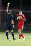 MTK Boedapest versus De voetbalwedstrijd van de de Bankliga van DVSC OTP Stock Foto