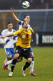MTK Budapest contra el partido de fútbol de la papá del lombardo Fotografía de archivo