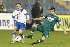MTK Budapest contra GyÅri ETO FC Fotografia de Stock Royalty Free