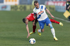 MTK Budapest contra partido de fútbol de Videoton Fotos de archivo