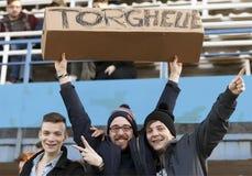 MTK Budapest contro la partita di lega della Banca di Ferencvaros OTP Fotografie Stock Libere da Diritti
