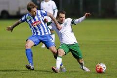 MTK Budapest, Ferencvaros OTP banka Ligowy futbolowy dopasowanie - Zdjęcie Royalty Free