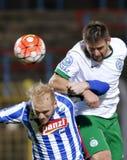 MTK Budapest - fotbollsmatch för Ferencvaros OTP bankliga Fotografering för Bildbyråer