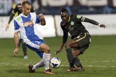 MTK Budapest gegen Bank-Ligaspiel Ferencvaros OTP Lizenzfreie Stockfotos