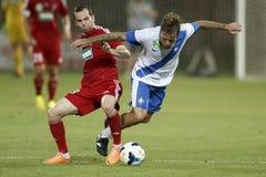 MTK Budapest vs. DVSC OTP Bank League football match Royalty Free Stock Images