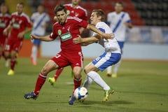 MTK Budapest vs. DVSC OTP Bank League football match Royalty Free Stock Photography