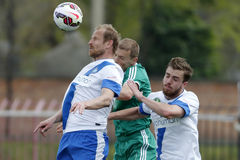 MTK contra Fósforo de futebol da liga do banco de Gyor OTP Imagem de Stock Royalty Free