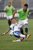 MTK contra partido de fútbol de la liga del banco de Haladas OTP Fotos de archivo libres de regalías
