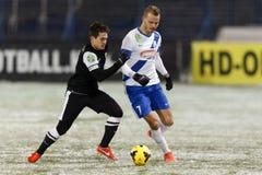 MTK vs. DVTK OTP Bank League match Royalty Free Stock Photo